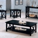 Modern Cappuccino Coffee Table & End Tables 3 Piece Set