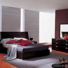 Modern Cappuccino Pavia Queen Bed Room Furniture Set