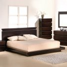 Cappuccino Dark Oak Bed Room Furniture Set Solid Wood