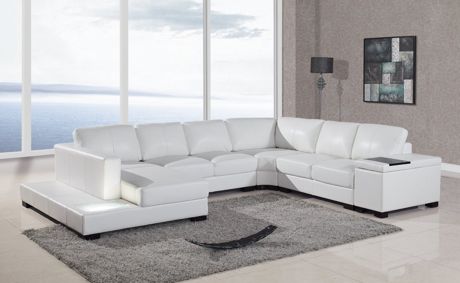 T35 Style Italian Bonded Leather Modern Living Room
