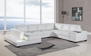 T35 Style Italian Bonded Leather Modern Living Room Sectional Sofa Couch Vegan