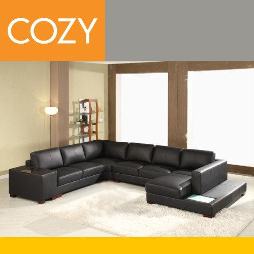 t35 style italian bonded leather modern living room sectional sofa