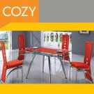 Modern Elegant Glass Expandable Dining Room Set  Small Square Table by COZY™