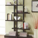Contemporary Bookcase Display Shelf Modern Open Design Cappuccino By COZY™