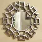 CONTEMPORARY ACCENT MIRRORS STARBURST MIRROR IN SILVER FINISH BY COZY™