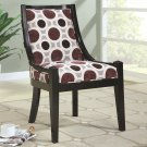 MODERN ACCENT WOODEN CHAIR GEOMETRIC PATTERN AND BLACK WOODEN BORDERS BY COZY™