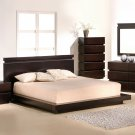 Dark Brown Contemporary Low Platform Bedroom Furniture  5PC Set SALE By COZY™