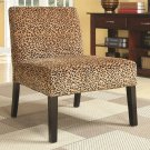 ACCENT SEATING CHAIR IN CHEETAH PRINT OR BOX PRINT AND WOOD LEG TRIM BY COZY™