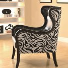 ACCENT SEATING CHAIR IN ZEBRA PRINT AND NAILHEAD TRIM BY COZY™