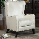 ACCENT SEATING WING WITH NAILHEAD TRIM IN WHITE OR BLACK BY COZY™