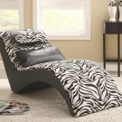 ACCENT SEATING MODERN FURNITURE ZEBRA PRINT CHAISE BY COZY™