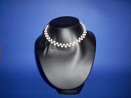 Round White Pearls Necklace / Choker - TBM-NC-002