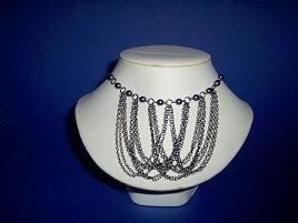 Round Hematite Bead Necklace / Choker - TBM-HN-003
