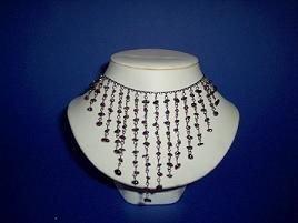 Red Garnet Gem Stone Necklace / Choker - TBM-GSN-008