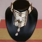 Unisex ~ Bone, Cowrie Shell, Leather Choker / Necklace