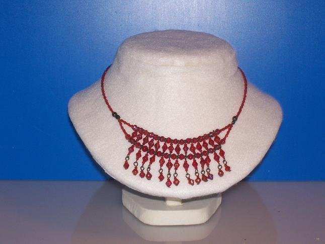 Glass Red Beads Choker / Necklace - TBM-BBN-007