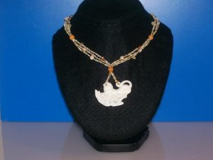 Necklace Mother Of Pearl Monkey -TBM-MOPN-002