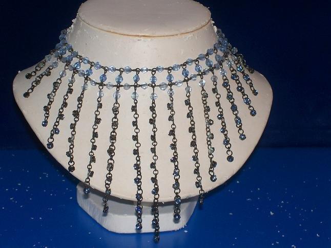 Sapphire Crystal Necklace / Choker - TBM-SCNC-006