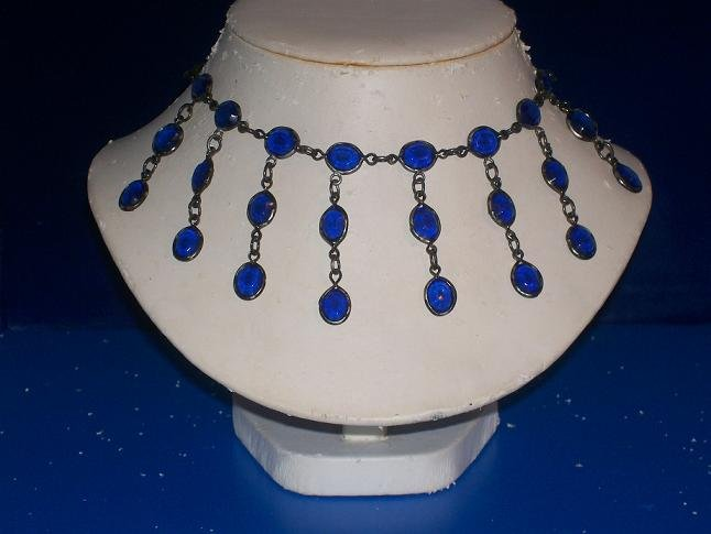 Blue Capri Austrian Crystals Necklace -TBM-SCNC-008