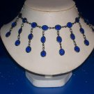 Blue Capri Austrian Crystals Necklace -TBM-SCNC-008