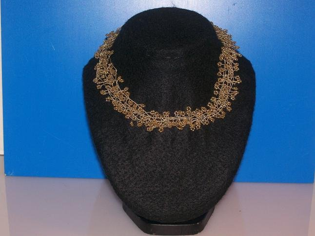 5 Strands Of Gold Filled Wire Choker - TBM-GSC-013