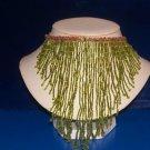 Choker Glass Lime Green Funnel Beads-TBM-BBN-010