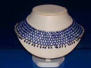 Choker Royal Blue Funnel Beads - TBM-BBN-018