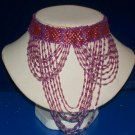 Choker Red & Purple Seed Beads -TBM-BBN-001