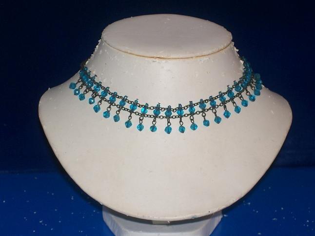 Choker Aquamarine Diamond Crystals - TBM-SCC-009