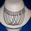 Necklace / Choker Amethyst Glass Beads -TBM-GSN-029