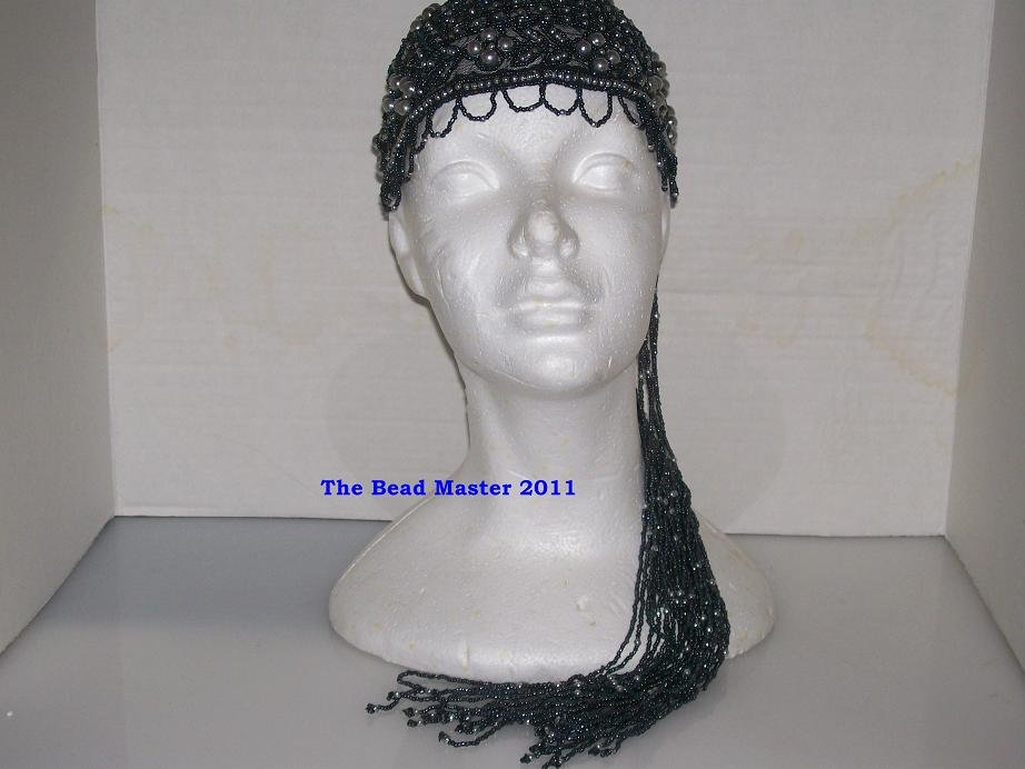 Beaded Cap & Shoulder Bag Set  2- Pc. Set-   TBM-BCS-001