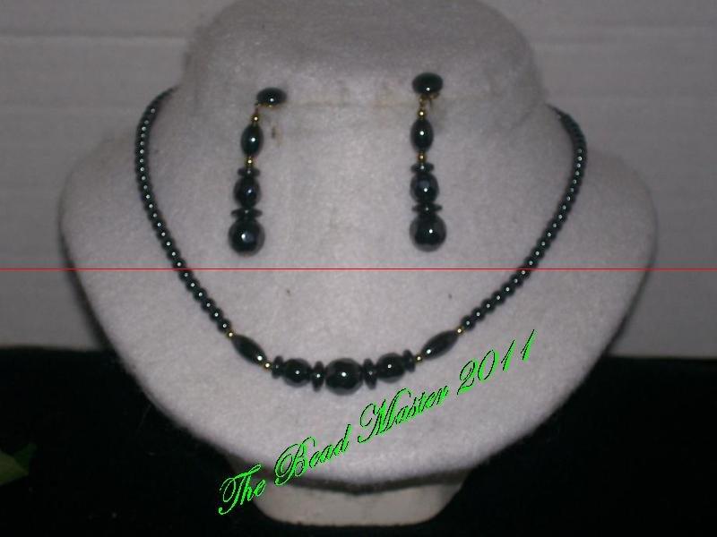 Hematite Necklace & Earring Set - TBM-NES-011
