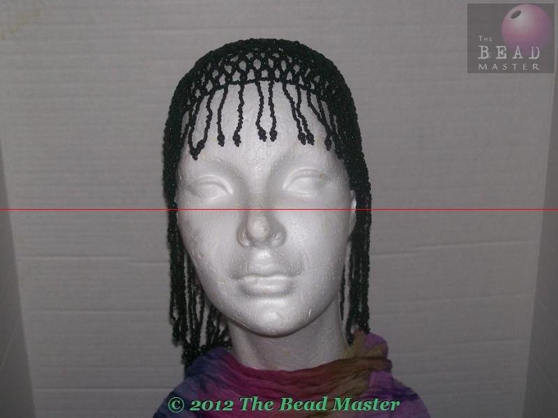 Egyptian Beaded Head Piece - Black- TBM-BHP-005