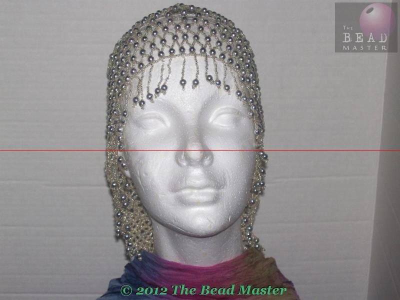 Beaded Caps  Silver  V Shape Back --- TBM-BHP-009