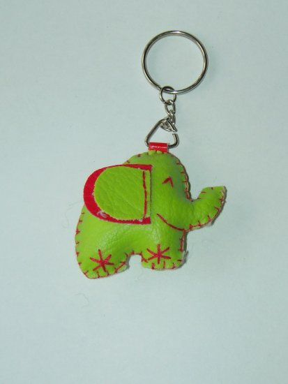 Cute light green elephant key ring