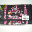 Naraya Black Flowery Comestic Bag with mirror
