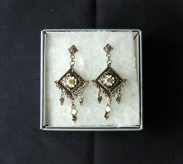 Elegant Victorian Bronze Dangle Earrings
