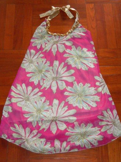 Pink Flowery Halter