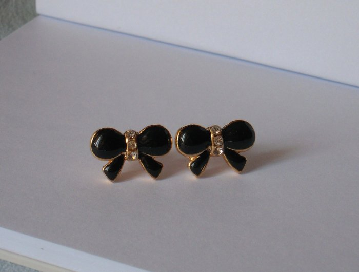 Butterfly earrings with golden colour edge