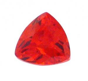 6mm Padparadschah (Orange Sapphire) Trillion Shaped Hand Cut Gemstone