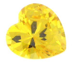 6 Carat 10mm CITRINE Heart Shaped Hand Cut Gemstone