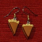 Handcrafted polymer clay pumpkin pie earrings