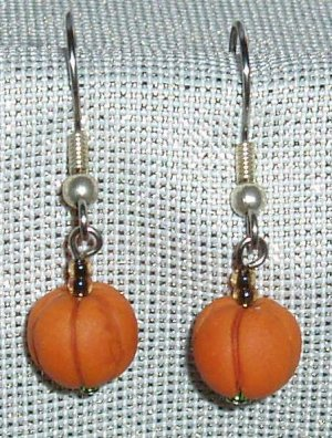Handcrafted polymer clay pumpkin earrings