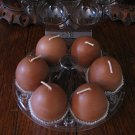 Egg votives - package of 6.  Chocolate-cherry