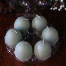 Egg votives - package of 6.  Fresh cut grass.