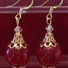 Handblown glass ornament earrings