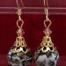 Copper/black Ornament Earrings