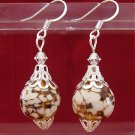 Gold/white ornament earrings