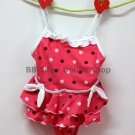 B10001 Baby Cute Pink Dot-Pattern Swimming Suit