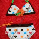 B10002 Baby Cute Heart Pattern Mini Bikini